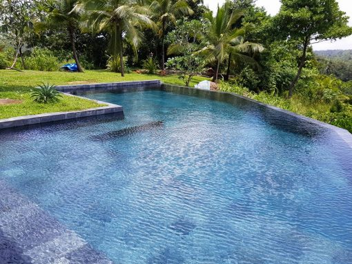 Waterproofing of Swimming pool at Luxury Villa in Galle